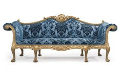 A GEORGE III GILTWOOD SOFA DESIGNED BY ROBERT ADAM AND MADE BY THOMAS CHIPPENDALE, 1765