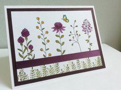 2016 Stampin Up Flowering Fields Stamp Set