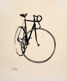 Bicycle Art Track Bike Little Print by bicyclepaintings on Etsy