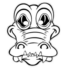 Free printable coloring pages for print and color, Coloring Page to Print , Free Printable Coloring Book Pages for Kid, Printable Coloring worksheet Coloring Pages To Print, Free Printable Coloring Pages, Coloring Book Pages, Alligator Crafts, Printable Masks, Printables, Craft Day, Animal Masks, Australian Animals