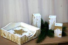 Serwetnik i świeczniki kpl. złoty Container, Xmas, Christmas, Navidad, Noel, Natal