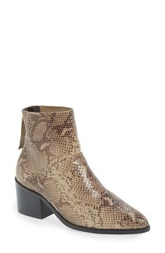 Topshop 'Midnight' Snake Embossed Ankle Boot (Women) available at #Nordstrom