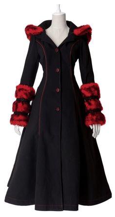 Long Manteau Gothique Lolita Cyber Réservible - Manteau Veste - Vetements Femme - Tous nos Produits