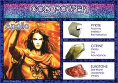 God Power: Apollo! Minerals And Gemstones, Crystals Minerals, Stones And Crystals, Greek Mythology Gods, Gods And Goddesses, Magick Book, Witchcraft, Wiccan Magic, Pagan Gods