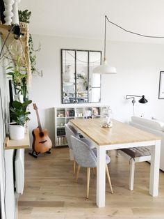 salle à manger scandinave, cosy et moderne