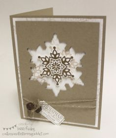 Stampin' Up! Christmas by Confessions of a Stamping Addict Festive Flurry Snowflake Card Lorri Heiling