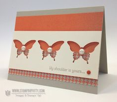 Stampin up stampinup pretty order mary fish elegant butterfly punch sweater weather gift of kindness card idea