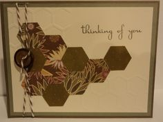 Thinking of You Hexagon Card
