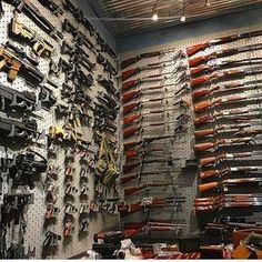 Airsoft Guns, Weapons Guns, Guns And Ammo, Weapon Storage, Gun Storage, Gun Safe Room, Gun Vault, Gun Rooms, Cool Guns