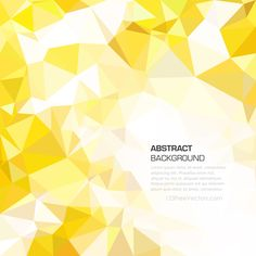 Yellow Polygonal Triangular Background Image