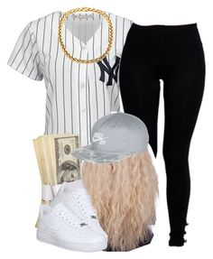 """""""."""" by trillest-queen ❤ liked on Polyvore featuring Majestic, Boohoo and NIKE"""