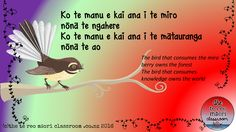 Te reo Maori resource- whakataukī about education and learning www.thetereomaoriclassroom.co.nz