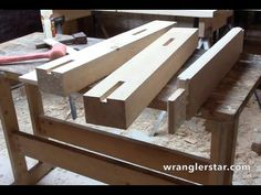 Poor Man's Bench 11 - Leg Frame Glue Up - http://www.gottagodoityourself.com/poor-mans-bench-11-leg-frame-glue-up/