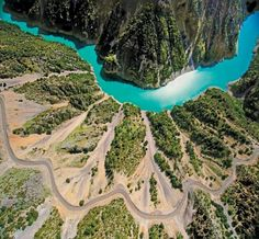 TRAVEL'IN GREECE I Achelous River, it empties into the Ionian Sea. In ancient times its spirit was venerated as the river god Acheloos. Greece Tours, Greece Travel, Cool Places To Visit, Places To Go, In Ancient Times, Birds Eye View, Greek Islands, Aerial View, Athens