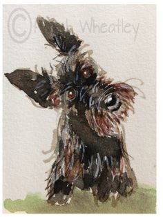 A personal favourite from my Etsy shop https://www.etsy.com/uk/listing/247649720/scottie-dog-art-print-scottish-terrier