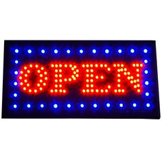 """Bright Classic Animated BOLD LED Lights Open Store Shop Sign 19x10"""" Display neon #Zh"""
