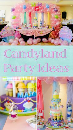 Candyland Birthday Party Ideas - Pretty My Party #candyland #birthday #party #ideas