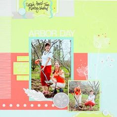 Arbor Day Spring Addition Layout from Creative Memories