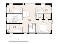 Övervåning - Katalogvariant House Plans, Floor Plans, How To Plan, Villa, Inspiration, Traditional, Biblical Inspiration, House Plans Design, House Floor Plans