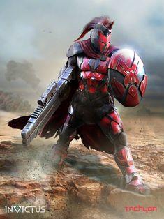 ideas science fiction fantasy aliens for 2019 Sci Fi Armor, Sci Fi Weapons, Robot Concept Art, Armor Concept, Fantasy Character Design, Character Art, Images Star Wars, Futuristic Armour, Superhero Design