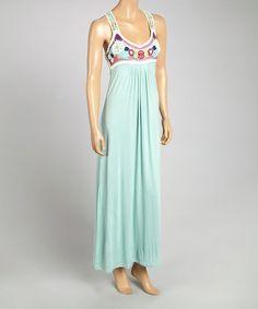 Another great find on #zulily! Light Aqua Crocheted Maxi Dress by Blue Tassel #zulilyfinds
