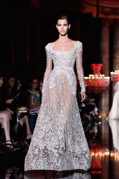 a wedding dress that shows the brides everything down there..but why? from The Best Looks from the Couture Fall Winter 2015 Runway - Elle