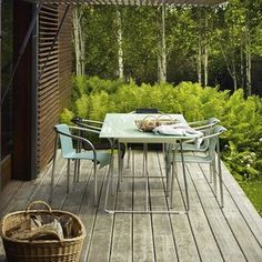 Pacific Foldable Outdoor Tables by Skagerak- The Worm that Turned #alfresco #glass