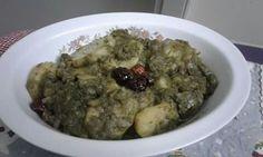 Bar b q potatoes in green masala