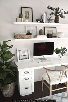 Cozy Home Office, Home Office Space, Home Office Design, Home Office Decor, Workspace Design, Office Workspace, Living Room Lighting, Living Room Decor, Office Lighting