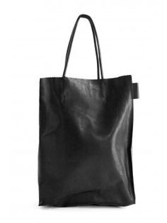 The ideal black leather tote. Paper Bag by A Brand Apart