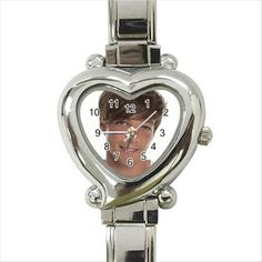 louis tomlinson one direction Heart Italian Charm Watch. http://stores.shop.ebay.co.uk/giftpick