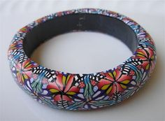 Tropical Visions Bangle Bracelet by rengalsa on Etsy, $30.00