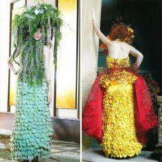 jurken gemaakt van de natuur