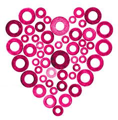 ♥ heart circles, craft, circl heart, valentine day, pink heart, a frame, buttons, art projects, heart designs
