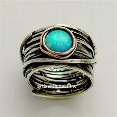 Gold-Silber-Ring Silber Rose Gold Ring von artisanlook auf Etsy
