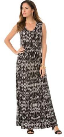 Women's Plus Size Maxi V-Neck Dress