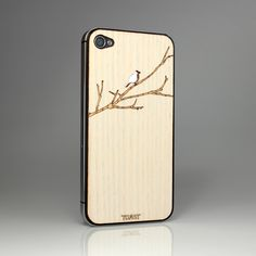 Bird on Branch White Ash iPhone cover