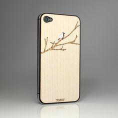 matias brecher bird on branch iphone cover