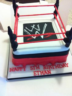 WWF wrestling cake by Little Miss Party Cakes, via Flickr
