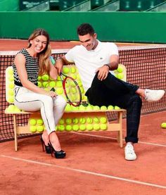 Simona Halep & Horia Tecau #USOpen2015 Simona Halep, Track And Field, Tennis Players, Athlete, Thighs, Sports, Woman, Friends, Lady