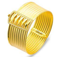 Taşlı 8 Sıralı Altın Hasır Kelepçe Bilezik 22 ayar kelepçe bilezik - Bilezikci Gold - Türkiye'nin Lider Kuyumcusu