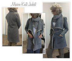 Mason Knit Jacket Sewing Pattern By Style Arc Easy Knitting Patterns, Pdf Sewing Patterns, Dress Patterns, Crochet Patterns, Jackets For Women, Clothes For Women, Jacket Pattern, Knit Fashion, Knit Jacket