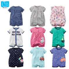 Enthusiastic Infant Toddlers Baby Short Sleeve Striped Animals Printed Romper Outfits Newborn Clothes Onesies Kinder Kleider Roupa Infantil Mother & Kids Bodysuits