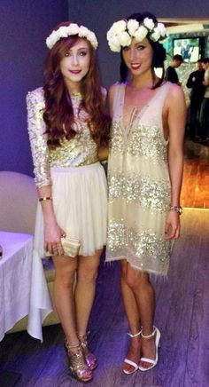 Sophisticated Cly Hen Party Inspiration From Stylish Las In Cork A Cream Gold Sparkle Do Theme With Flower Crowns Night Chic At It S