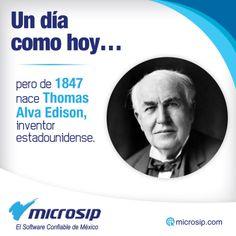 Un día como hoy, 11 de febrero, pero de 1847 nace Thomas Alva Edison, inventor estadounidense.