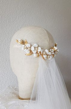 Bridal headpiece Flower hair accessory Flower hair clip | Etsy Bridal hair comb flower, wedding hairstyles updo, bridal hair accessories, bridal hair inspiration, wedding hair comb, bohemian bride, rustic wedding, natured inspired headpiece. leaf hair comb, Braut frisur, Braut styling Brautmode, modern hairstyle for brides, half downdos, bridesmaids hairstyle, wedding hair accessories, wedding headpiece, bridal hairpiece floral