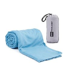 Travel Sheet Lightweight Compact UltraSoft Travel Sleep Sack with Builtin Pillow Case Pocket Helps You Avoid Rolling in Strangers Germs as You Backpack Travel Camp Sleep at Hotels and Hostels ** Find out more about the great product at the image link.