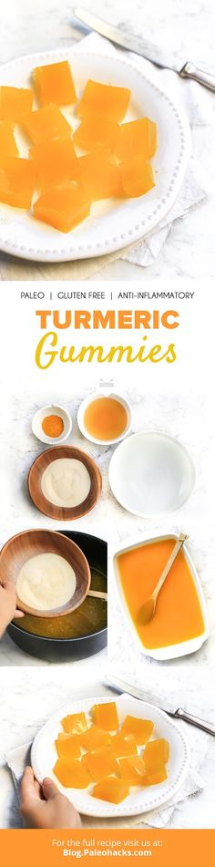 Want to make your own post-dinner vitamins? These bite-sized turmeric gummies are easy to prepare, and full of health benefits! Get the recipe here: http://paleo.co/turmericgummies