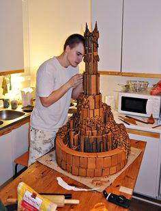 221bitssmallerontheoutside:  msdistress:  bunjywunjy:  crazievoice:  elan-morin-tedronai:  Two Finnish students decided to build a slightly more hardcore gingerbread house. (source, in Finnish tho)  Slightly  is that fucking Barad-dûr   Here's a picture of the finished Ginger-Dûr. (Source: Turkulainen, unfortunately only in Finnish, but there are other nifty gingerbread houses in the gallery. My other fave is the Moomin house.)  WHAT