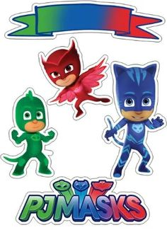 COMO FAZER CENTRO DE MESA FESTA PJ MASKS LAGARTIXA Pj Masks Cake Topper, Pj Masks Cupcake Toppers, Pj Mask Cupcakes, Pj Masks Birthday Cake, Birthday Cake Toppers, Pj Masks Printable, Party Printables, Boy Birthday Parties, 4th Birthday